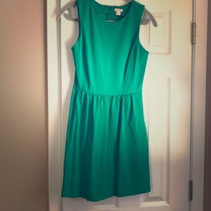 J Crew Casual Tank dress with pockets in Green.